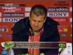 Em 2010, Dunga xinga repórter em coletiva da seleção