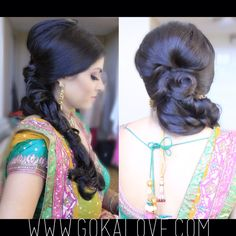 Hairstyle for a garba! Loose Fishtail Braid!!! Indian Wedding, Makeup Artist, Hairstylist, Connecticut, New York, Boston, Massachusetts
