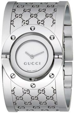 Gucci Women's YA112401 Twirl Medium Bangle Brown Dial Watch