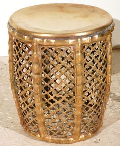 Assortment of Vintage and Moroccan Brass Stools image 3