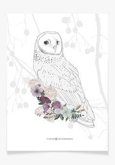 Art Print  Barn Owl by Micush on Etsy
