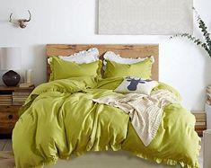 Orange duvet cover king   Etsy King Bedding Sets, Duvet Bedding, Comforter Cover, Duvet Sets, Duvet Cover Sets, Orange Duvet Covers, Soft Duvet Covers, Ruffle Duvet, Ruffles