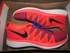 Nike Flyknit Lunar2 Mens Running Shoes 10 Hyper Punch Blue 620465 602 #Nike #RunningCrossTraining