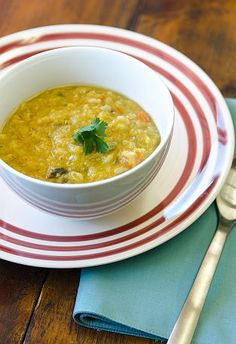 Red Lentil and Barley Stew #MeatlessMonday