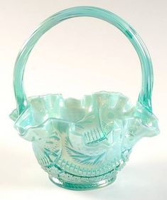 *FENTON ART GLASS ~ Basket, Sunburst, Carnival Glass
