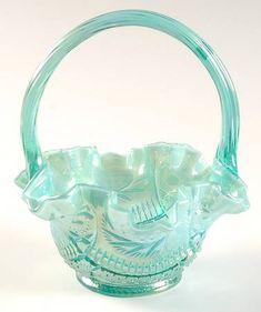 *FENTON ART GLASS ~ Basket, Sunburst, Carnival Glass