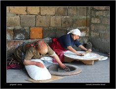 Armenian Woman making Lavash. I remember my grandmother and my aunt doing this in the 70's, and 80's. Many good memories!