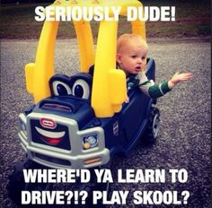 Kid Drivers - Learn to Drive Toy Cars from Play School ---- jokes funny pictures walmart fail humor