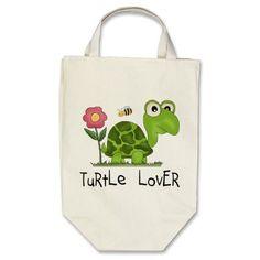 Turtle Lover Tote Bag