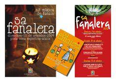 "Cliente/Client: Ajuntament d'Alaior Servicio/Service: Imagen gráfica ""Sa fanalera"" 2009, 2010, 2011. (Periodo profesional: Model Grafic, sl)"