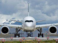 L'Airbus A350 part à Singapour (photos)