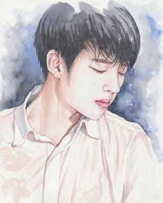 "The first solo album ""Nam Woohyun"" Kim Sung Kyu, Nam Woo Hyun, Kim Myung Soo, Myungsoo, Kpop Fanart, Infinite, Chibi, Art Drawings, Fan Art"