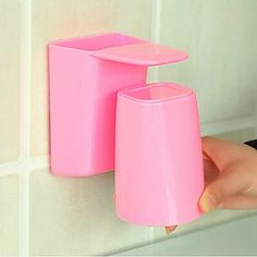 Bathroom Gadgets, 1pc ABS Boutique Plastic Wall Mount Toothbrush Holder Bath Organization