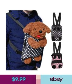 9f16227c50e Cages & Crates Pet Dog Puppy Double-Shoulder Bag Front Head Out Carrier  Travel Backpack & Garden