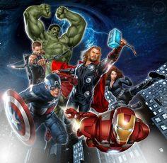 The Avengers (desenho semi-realista) - http://www.wallmay.net/thumbnails/detail/20120730/iron%20man%20comics%20thor%20captain%20america%20avengers%20comics%20artwork%20marvel%20comics%20the%20avengers%20movie%20hulk_www.wallmay.com_43.jpg