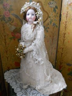 ~~~ On Hold for P. ~~~ Amazing French Bisque Bride by Gaultier ~~~