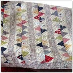 Contemporary, designer modern quilt.