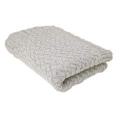 Suri Cable Knit Throw in Gray