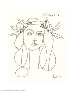 Lijntekening van kunstenaar Pablo Picasso