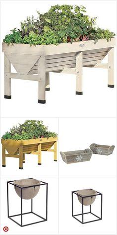 Shop Target for plan Garden Boxes, Garden Planters, Outdoor Gardens, Indoor Outdoor, Vegetable Garden Design, Raised Garden Beds, Raised Beds, Backyard Landscaping, Landscaping Edging