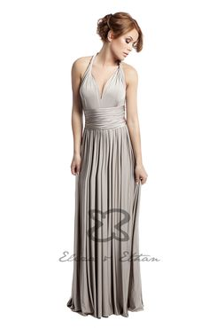 Eliza and Ethan - Multiway - Infinity -  Bridesmaids Dresses - OneSize - Maxi MultiWrap Dress Color: Champagne