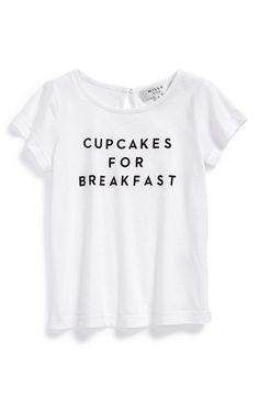 Free shipping and returns on Milly Minis 'Cupcakes for Breakfast' Tee (Little Girls & Big Girls) at Nordstrom.com. Encourage the occasional indulgence with a playful tee cut from a soft cotton/modal blend.