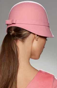 "Find out where Glamour Goddess wore this blush pink Cinzia Rocca 1920's inspired cloche hat. Read ""BOB"" at: ndnyurlife.com"
