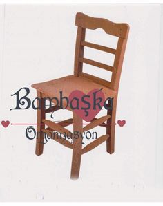 Kahverengi Nostaljik Sandalye Kiralama