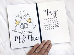 Bullet journal Wedding spread