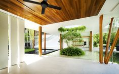 timber beams The Willow House by Guz Architects | HomeDSGN, a daily source for inspiration and fresh ideas on interior design and home decoration.