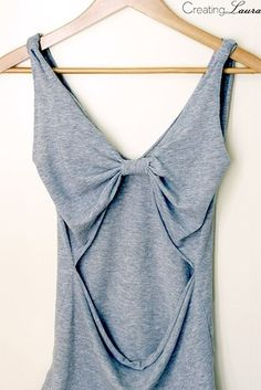 Drapey Bow Back Tee | 41 Insanely Easy Ways To Transform Your Shirts For Summer