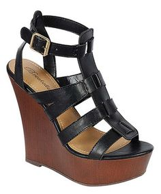 Look what I found on #zulily! Breckelle's Black Carina Wedge by Breckelle's #zulilyfinds