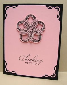 Such a pretty, elegant card by Nutty for Stampin'!