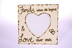Wooden+family+picture+frame+by+CreativeCraftsbyCC+on+Etsy,+$16.00