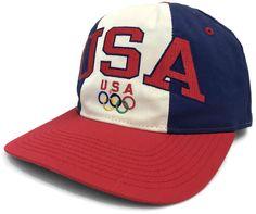 50c6e0f83c4 Vintage Starter Team USA Snapback Cap Dream Team Olympics Adjustable Hat  Size Sz  Starter  USA