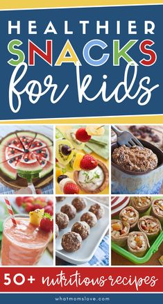 Easy Snack Ideas for Kids | These snack recipes are easy to make at home, nutritious & perfect for your kids to eat for school or as an after-school snack! School Snacks For Kids, Easy Snacks For Kids, Quick Snacks, Yummy Snacks, Kids Meals, Snack Recipes, Yummy Food, Healthy Kids, Delicious Recipes