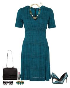 """Teal"" by julietajj on Polyvore featuring French Connection, Stephanie Kantis, Alfani, Michael Kors and Chloé"