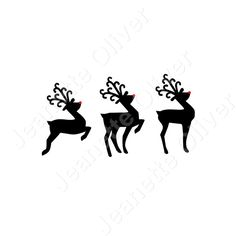 Set of 3 Reindeer SVG Digital Cutting File by CraftaholicCreation on Etsy