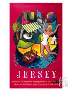 Jersey, BR, c.1957 Art Print by E. Lander at Art.com