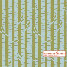 Meadow - Birches - Organic KNIT Fabric from Monaluna Japanese Textiles, Japanese Fabric, Fabric Tree, Hand Knitting Yarn, Shops, Green Quilt, Yarn Shop, Tree Print, Craft Materials