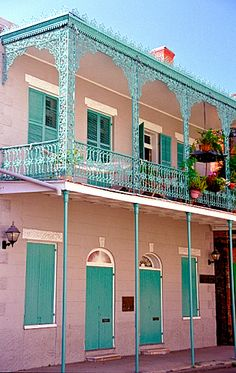French Quarter - Cast-Iron Balcony - Gallier House | Flickr - Photo Sharing!
