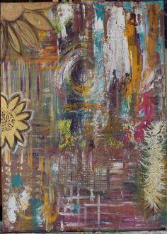 Tableau Abstraite Acrylique - Tableau aux Multiples Reflets - 50 x 70 cms : Peintures par mimipeint