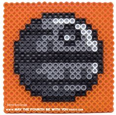 Death Star Perler Bead Coaster | May the Fourth be with You Party
