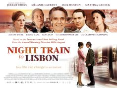 Night Train to Lisbon will be released in the UK in cinemas and on demand on 24 October 2014. Featuring an exceptional all-star cast including Academy Award winner Jeremy Irons, Night Train to Lisbon is a spellbinding thriller directed by critically-acclaimed director Bille August, based on the bestselling novel by Pascal Mercier. + info: www.nighttrain-film.com / www.imdb.com/title/tt1654523/