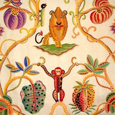 colorful & whimsical Jembala fabric | Clarence House #lion #fabric