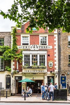 The Cricketers pub in Richmond, London is one of the area's most beloved historic drinking establishments.  #pub #london #richmond