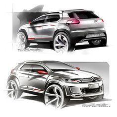 Citroen C-XR Concept - Design Sketches