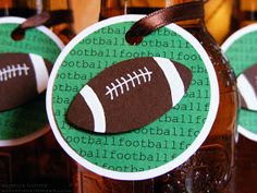 Snap.Scrap.Blog.Tweet: Super Bowl Party Idea: Add Flair to Beverage Bottles with Football Tags