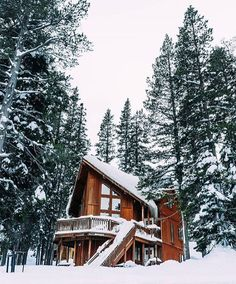 A White Christmas Photo by by modernoutdoorsman Getaway Cabins, Snow Scenes, Cabin Homes, Log Homes, Cabin Plans, Cabins In The Woods, Christmas Photos, White Christmas, Lake Tahoe