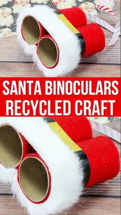 Preschool christmas crafts - DIY Santa Binoculars A Kid's Christmas Craft – Preschool christmas crafts Preschool Christmas Crafts, Christmas Arts And Crafts, Noel Christmas, Xmas Crafts, Simple Christmas, Kids Craft Christmas Gifts, Christmas Activities For Preschoolers, Christmas Crafts For Kids To Make Toddlers, Recycled Christmas Decorations